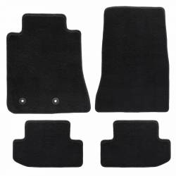 Carpet & Related - Floor Mat Sets - Lloyd Mats - 15 Mustang Black Set of 4 Floor Mats: No Emblem