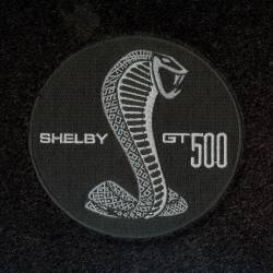 Lloyd Mats - 15 Mustang  Black Set of 4 Floor Mats:: Shelby GT 500 Circle Emblem