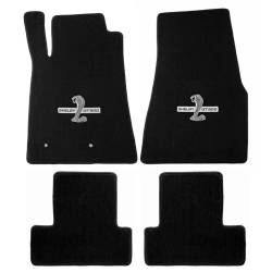 Lloyd Mats - 15 Mustang  Black Set of 4 Floor Mats:: Shelby Snake GT500 Emblem