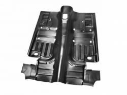 Floor Pan - Complete - Scott Drake - 69-70  Mustang Complete Floor Pan, Original Gauge