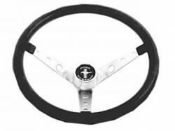 Steering Wheel & Related - Steering Wheels - Scott Drake - 1965 - 1973 Mustang  Grant Black Steering Wheel