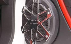 3D Carbon - 05 - 09 MUSTANG - Billet Aluminum Speaker Covers (Pair)