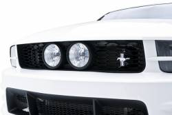 Body - Grilles - 3D Carbon - 05 - 09 Mustang Front Upper Grille for Center Fog Lights