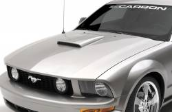 Hood - Scoop - 3D Carbon - 05 - 09 MUSTANG - Hood Scoop II