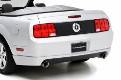 3D Carbon - 05 - 09 MUSTANG - V6 Dual Exhaust Rear Lower Valance (Fits V6 Mustang with modified exhaust only)