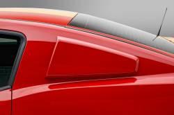 Body - Scoops - 3D Carbon - 10 - 14 MUSTANG -Window Scoop - Type I - (Pair)