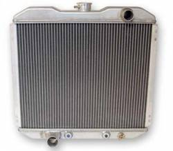 Radiators - 2 - Core - Scott Drake - 67 - 69 Mustang Aluminum Radiator, 2 Row, 5.0L, 302, 351C Engine Swap