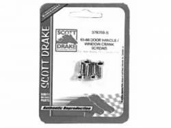 Door Panels & Related - Handle & Crank - Scott Drake - 65 - 66 Mustang Inside Door Handle & Window Crank Screws