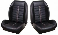TMI Products - 68 - 69 Mustang TMI Sport XR Full Seat Upholstery-Black/Black/Black/Steel - Image 2