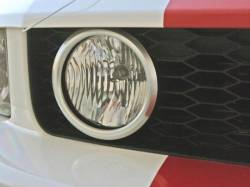 Body - Grilles - Drake Muscle Cars - 05 - 09 Mustang GT Grill Fog Lamp Bezels