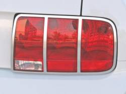 Drake Muscle Cars - 2005-09 Mustang Stamped Aluminum Tail Light Trim
