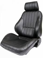 Procar - 65 - 70 Mustang Procar Rally Seats, Black Vinyl