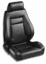 Procar - 65 - 70 Mustang Procar Elite Seats, Black Leather