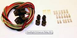 Wire Harnesses - Headlight - American Auto Wire - 65 - 73 Mustang Headlight Enhancer Relay Kit