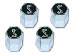 Wheels - Wheel Accessories - Scott Drake - Mustang Tiffany Snake Valve Stem Caps