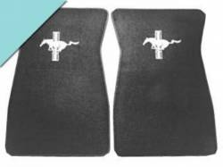 Carpet & Related - Floor Mat Sets - Scott Drake - 1964 - 1968 Mustang  Embroidered Carpet Floor Mats (Aqua)