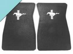Carpet & Related - Floor Mat Sets - Scott Drake - 1964 - 1968 Mustang  Embroidered Carpet Floor Mats (Aqua)