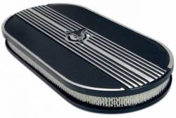 Engine - Air Filters - Scott Drake - 64 - 73 Mustang Oval Air Cleaner, Black, No Logo