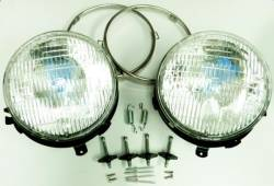 Electrical & Lighting - Headlights - Stang-Aholics - 68 Mustang Shelby or Eleanor Front Main Headlight Kit w/ Adjusters