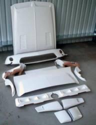 Fiberglass - S-Styled - Stang-Aholics - 1968 Mustang Fastback SR-68 Fiberglass Body Kit, Louvered Hood, No Ram-Air