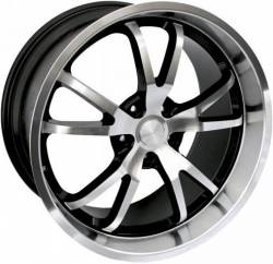 Wheels - 20 Inch - Steeda Autosports - 05 - 10 Mustang Steeda Spyder Wheel 20 X 9.5, Black w/Machined Face/Lip