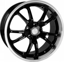 Wheels - 20 Inch - Steeda Autosports - 05 - 10 Mustang Steeda Black Spyder Wheel 20 X 11