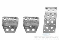 Pedals - Aftermarket Pedal Covers - Steeda Autosports - 15 Mustang Steeda S550 Pedal Kit - Manual