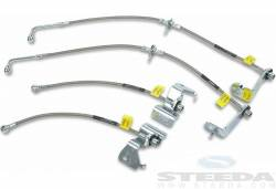 Lines & Hoses - Disc Hoses - Steeda Autosports - 15 Mustang Steeda Stainless Braided Brake Lines (15 GT)