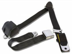 Seats & Components - Seat Belts - RetroBelt USA - 65 - 73 Mustang 3 Point Seat Belts, Black
