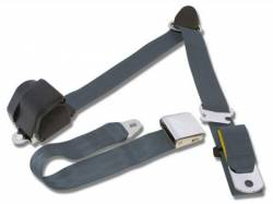 Seats & Components - Seat Belts - Scott Drake - 65 - 73 Mustang 3 Point Seatbelt, Blue