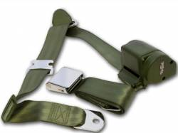 Seats & Components - Seat Belts - Scott Drake - 65 - 73 Mustang 3 Point Seat Belt, Green
