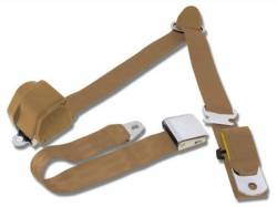 Seats & Components - Seat Belts - Scott Drake - 65 - 73 Mustang 3 Point Seatbetl, Parchment