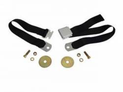 Seats & Components - Seat Belts - Scott Drake - 1964 - 1973 Mustang Aftermarket Seat Belts (Black)