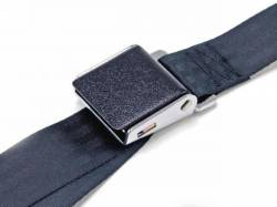 Seats & Components - Seat Belts - Scott Drake - 64-73 Mustang Black Wrinkle Seat Belts