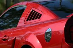 Body - Scoops - SilverHorse Racing - 05 - 09 Mustang Quarter Vent Louver Kit, Pair