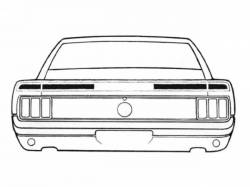 Stripe Kits - Trunk Lid - Scott Drake - 1970 Mustang Mach 1 Trunk Stripe Kit (Black)