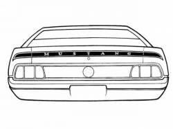Stripe Kits - Trunk Lid - Scott Drake - 71-72 Mustang Mach 1 Trunk Stripe Kit (Argent)