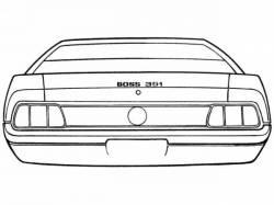 Stripe Kits - Trunk Lid - Scott Drake - 1971 Mustang Boss 351 Stripe Kit (Black)