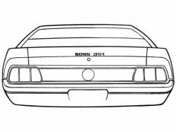 Stripe Kits - Trunk Lid - Scott Drake - 1971 Mustang Boss 351 Stripe Kit (Argent)