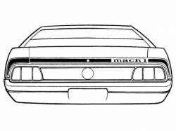 Stripe Kits - Trunk Lid - Scott Drake - 1973 Mustang Mach 1 Stripe Kit (Black)