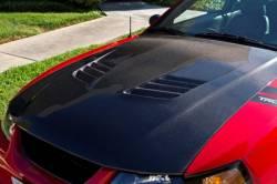 Carbon Fiber - Hood & Related - TruFiber - 99 - 04 Mustang Carbon Fiber Hood - V6 / GT