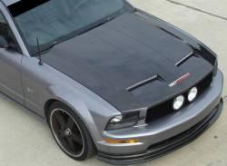 Carbon Fiber - Hood & Related - TruFiber - 05 - 09 Mustang Carbon Fiber Hood (V6 / GT)