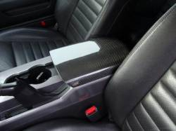 Carbon Fiber - Interior - TruFiber - 05 - 09 Mustang Carbon Fiber Arm Rest Cover