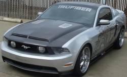 Carbon Fiber - Hood & Related - TruFiber - 10 - 12 Mustang Carbon Fiber Hood (V6 / GT)