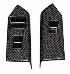 Carbon Fiber - Interior - TruFiber - 10 - 14 Mustang Carbon Fiber Window Switch Covers