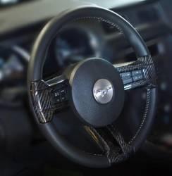 Interior - Interior Dress-Up - TruFiber - 10 - 13 Mustang Carbon Fiber Steering Inserts