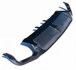Carbon Fiber - Misc Pieces & Trim - TruFiber - 2013 Mustang Rear Carbon Fiber Diffuser - Quad Tip