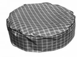 """1964 - 1973 Mustang  Tire Cover (Plaid, 15"""", Vinyl)"""