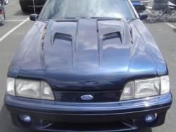 Fiberglass - Hoods - TruFiber - 87 - 93 Ford Mustang Fiberglass Hood