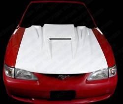 Fiberglass - Hoods - TruFiber - 99 - 04 Mustang Fiberglass Spyder Hood